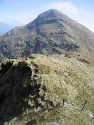 MountainViews.ie Picture about mountain Mullaghanattin in area Dunkerron Mountains, Ireland