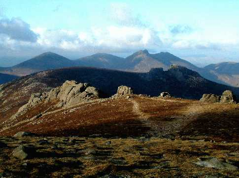 MountainViews.ie Picture about mountain Slieve Binnian in area Mourne Mountains, Ireland