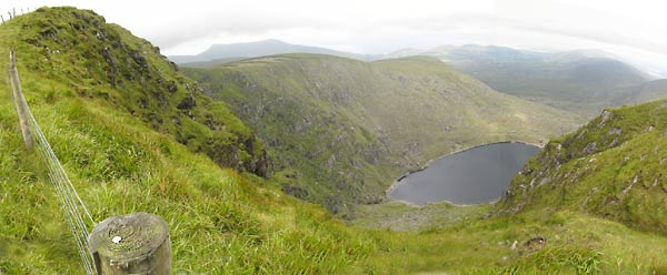 MountainViews.ie Picture about mountain Meenteog (<i>Muing</i>) in area Glenbeigh Horseshoe, Ireland