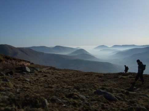 MountainViews.ie Picture about mountain Ben Creggan in area Ben Gorm Mountains, Ireland