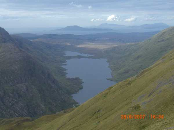 MountainViews.ie Picture about mountain Ben Creggan South Top in area Ben Gorm Mountains, Ireland
