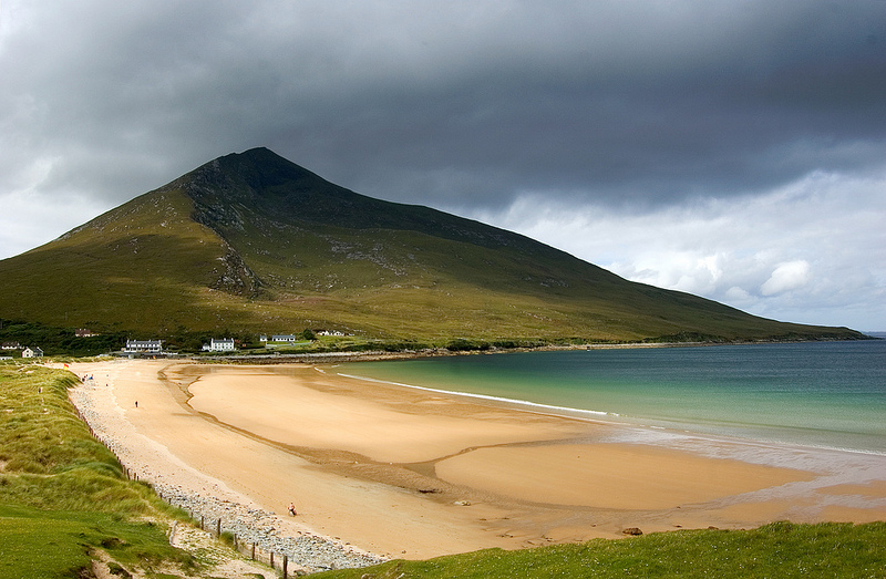 MountainViews.ie Picture about mountain Slievemore (<i>An Sliabh Mór</i>) in area Achill/Corraun, Ireland