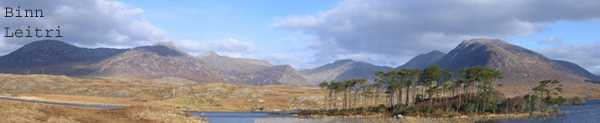 MountainViews.ie Picture about mountain Binn Gabhar in area Twelve Bens, Ireland