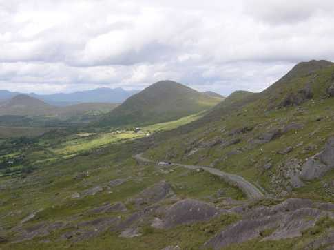 MountainViews.ie Picture about mountain Knockowen in area Caha Mountains, Ireland