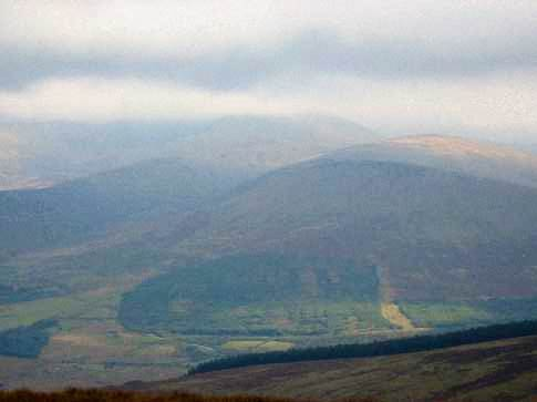 MountainViews.ie Picture about mountain Keadeen Mountain (<i>Céidín</i>) in area Wicklow, Ireland