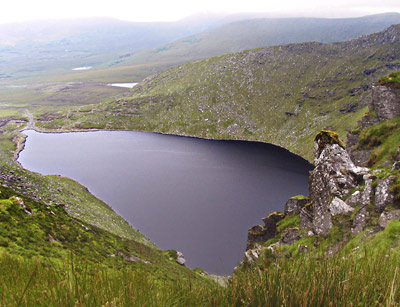 MountainViews.ie Picture about mountain Been Hill in area Glenbeigh Horseshoe, Ireland