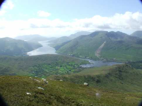 MountainViews.ie Picture about mountain Binn Gharbh in area Partry/Joyce Country, Ireland