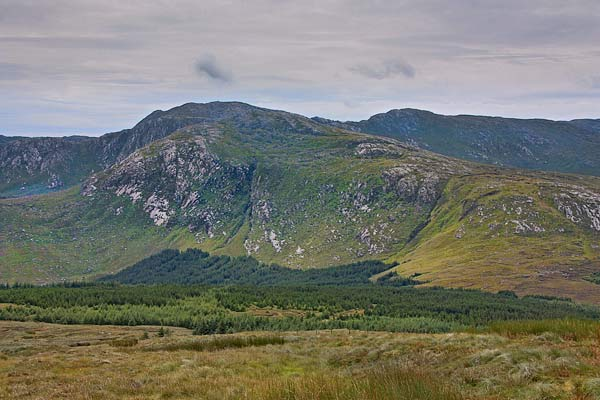 MountainViews.ie Picture about mountain Croaghbane (<i>An Chruach Bhán</i>) in area Bluestack Mountains, Ireland