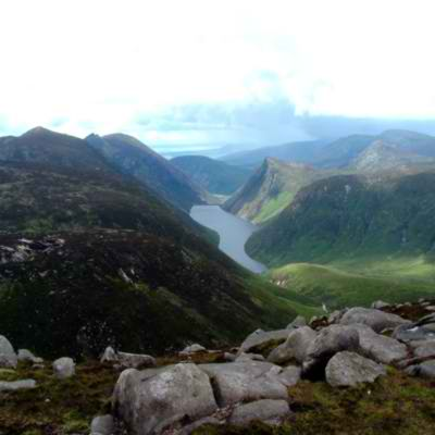 MountainViews.ie Picture about mountain Slieve Corragh (<i>Sliabh Corrach</i>) in area Mourne Mountains, Ireland