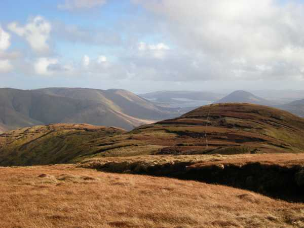 MountainViews.ie Picture about mountain Leenaun Hill in area Maamturks, Ireland
