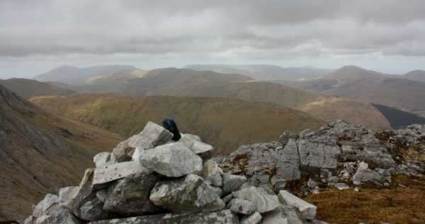 MountainViews.ie Picture about mountain Binn Mhairg in area Maamturks, Ireland