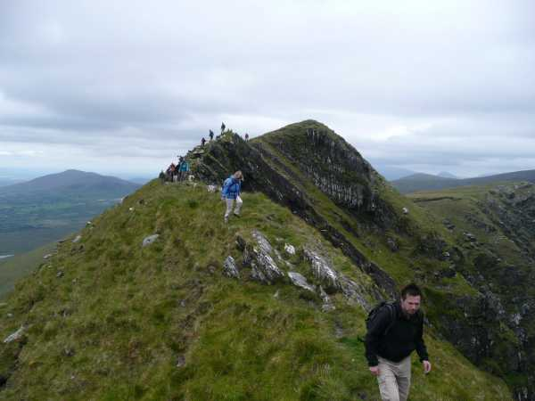 MountainViews.ie Picture about mountain Keamconneragh in area Glenbeigh Horseshoe, Ireland