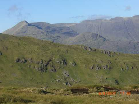 MountainViews.ie Picture about mountain Garraun in area Twelve Bens, Ireland