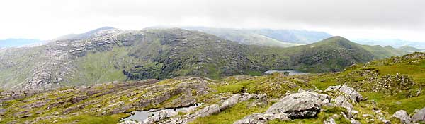MountainViews.ie Picture about mountain Cnoc Breasail in area Dunkerron Mountains, Ireland
