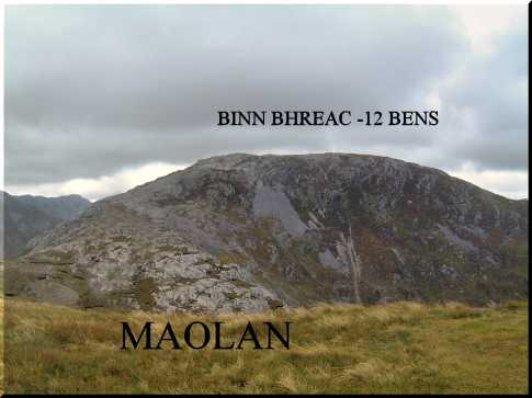 MountainViews.ie Picture about mountain Benbrack in area Twelve Bens, Ireland