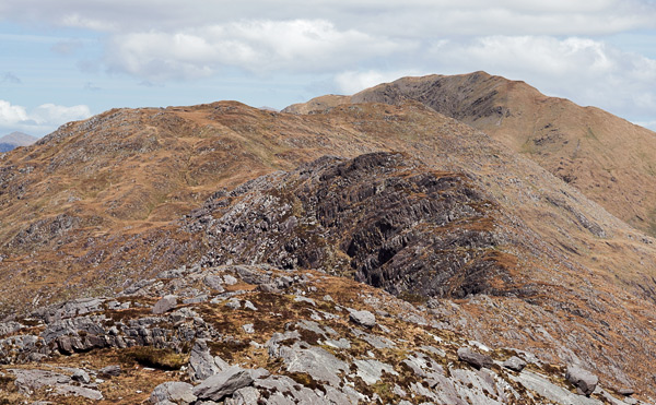 MountainViews.ie Picture about mountain Sallagh (<i>Caora Bhán</i>) in area Dunkerron Mountains, Ireland