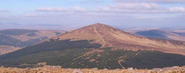 MountainViews.ie Picture about mountain Gaugin Mountain (<i>An Gáigín</i>) in area Bluestack Mountains, Ireland