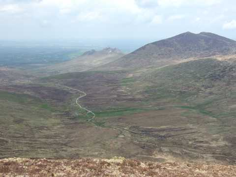 MountainViews.ie Picture about mountain Slievemoughanmore  in area Mourne Mountains, Ireland