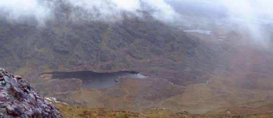 MountainViews.ie Picture about mountain Garraun South Top in area Twelve Bens, Ireland