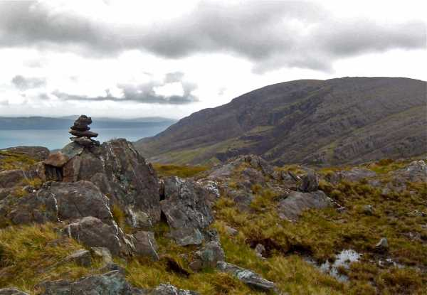 MountainViews.ie Picture about mountain Derryclancy (<i>Doire Cluainsí</i>) in area Caha Mountains, Ireland