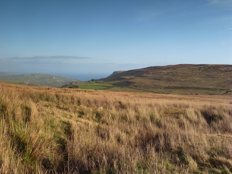 MountainViews.ie Picture about mountain Trostan (<i>Trostán</i>) in area Antrim Hills, Ireland