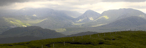MountainViews.ie Picture about mountain Knocknacusha in area Dunkerron Mountains, Ireland