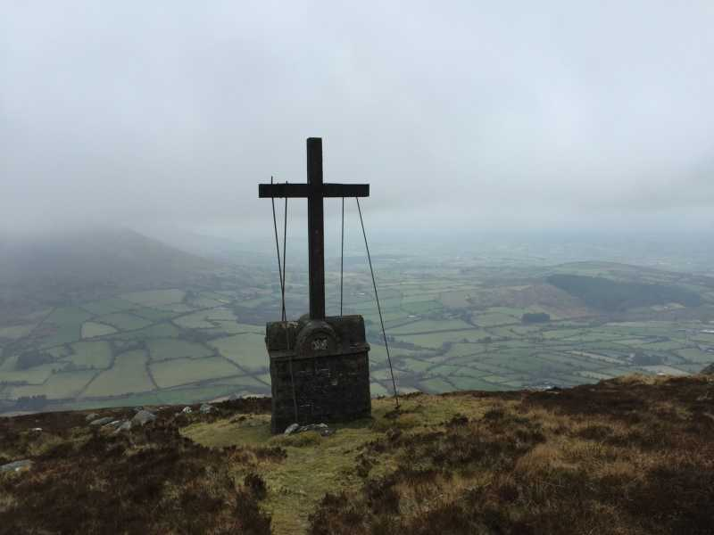 MountainViews.ie Picture about mountain Knockroe (<i>Cnoc Rua</i>) in area Blackstairs Mountains, Ireland