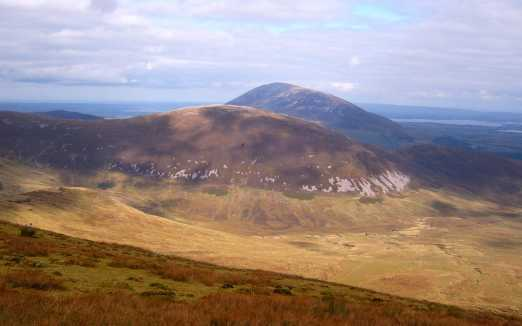 MountainViews.ie Picture about mountain Knockaffertagh (<i>Cnoc Eachmarcaigh</i>) in area Nephin Begs, Ireland