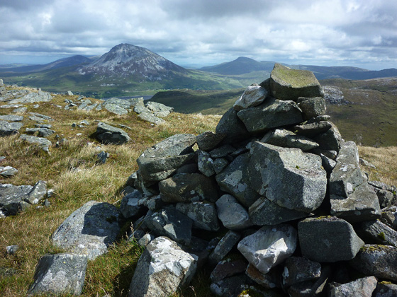 MountainViews.ie Picture about mountain Crocknafarragh in area Donegal NW, Ireland