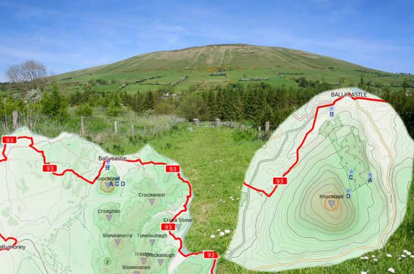 MountainViews.ie Picture about mountain Knocklayd in area Antrim Hills, Ireland