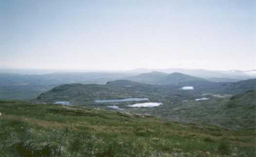 MountainViews.ie Picture about mountain Binnasruell (<i>Binn na Sruthal</i>) in area Bluestack Mountains, Ireland