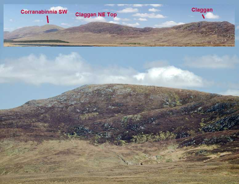 MountainViews.ie Picture about mountain Claggan Mountain NE Top (<i>Sliabh na Cloigne (m. thoir thuaidh)</i>) in area Nephin Begs, Ireland