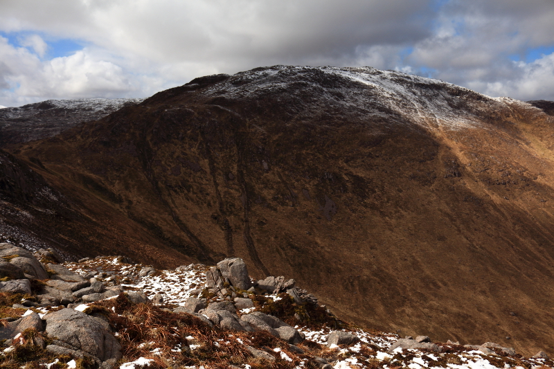 MountainViews.ie Picture about mountain Cruach an Bhearnais in area Bluestack Mountains, Ireland