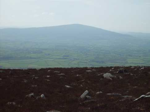 MountainViews.ie Picture about mountain Carrigroe in area Blackstairs Mountains, Ireland