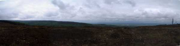 MountainViews.ie Picture about mountain Ridge of Capard in area Slieve Bloom, Ireland