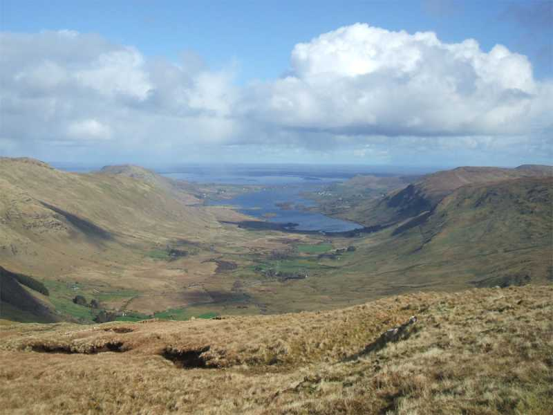 MountainViews.ie Picture about mountain Bunnacunneen SE Top in area Partry/Joyce Country, Ireland