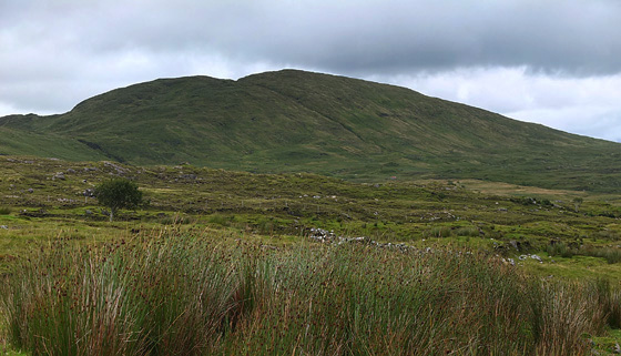 MountainViews.ie Picture about mountain Cruach Mhín an Fheannta in area Bluestack Mountains, Ireland