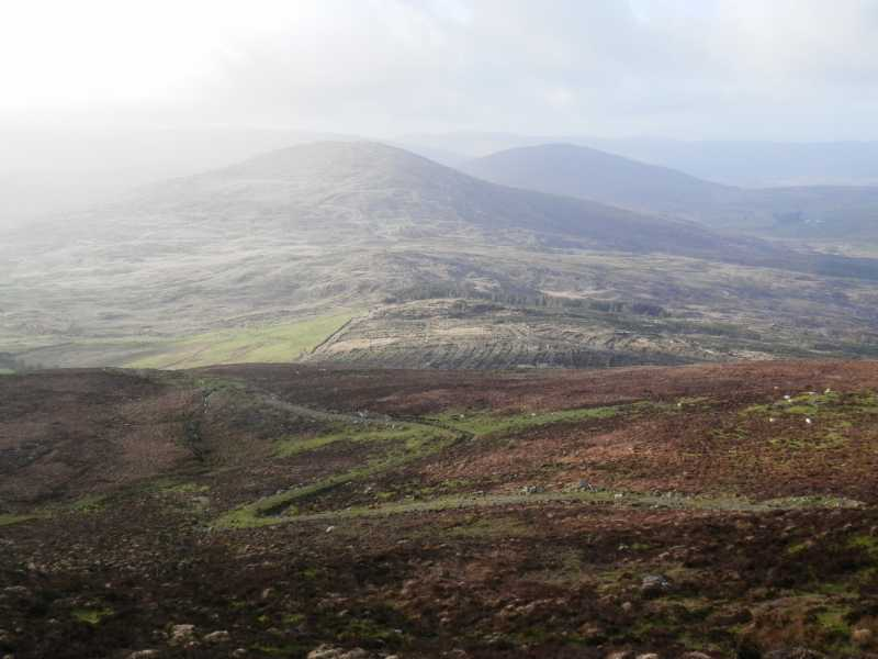 MountainViews.ie Picture about mountain Douce Mountain (<i>Damhais</i>) in area West Cork Mountains, Ireland