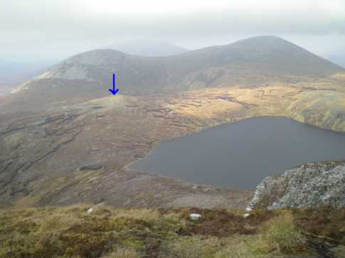 MountainViews.ie Picture about mountain Ardloughnabrackbaddy in area Donegal NW, Ireland