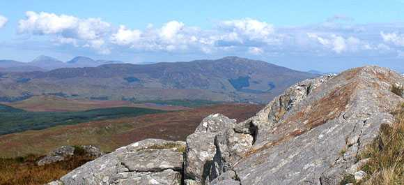 MountainViews.ie Picture about mountain Binn Bhán in area Bluestack Mountains, Ireland