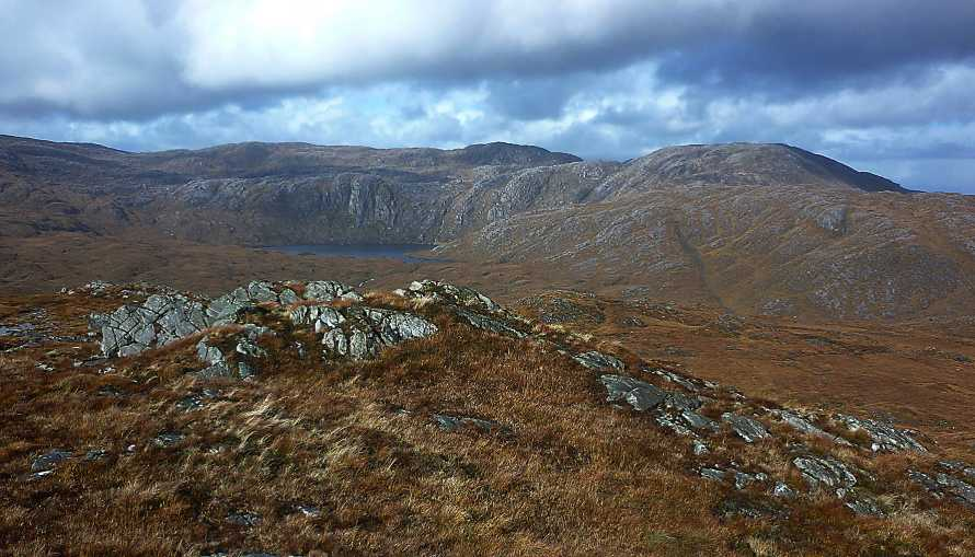 MountainViews.ie Picture about mountain Croaghagranagh in area Bluestack Mountains, Ireland