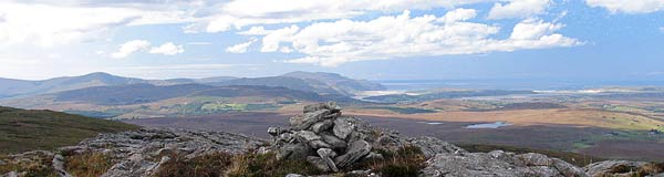 MountainViews.ie Picture about mountain Binn Bhán NE Top in area Bluestack Mountains, Ireland