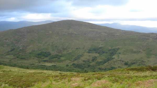 MountainViews.ie Picture about mountain Knockeirka in area Caha Mountains, Ireland