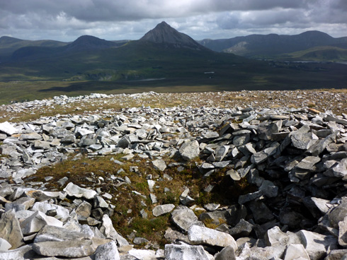 MountainViews.ie Picture about mountain Carn Traonach in area Donegal NW, Ireland