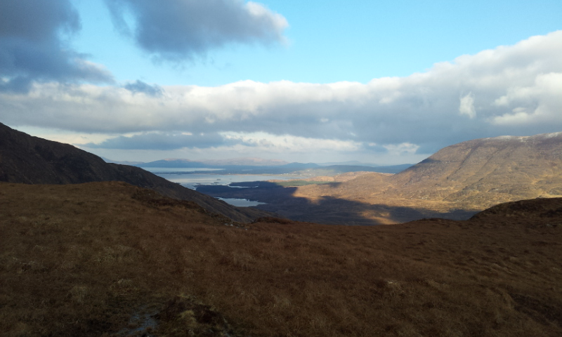 MountainViews.ie Picture about mountain Esknaloughoge N Top in area Dunkerron Mountains, Ireland