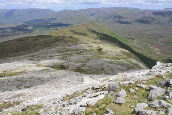 MountainViews.ie Picture about mountain Knockpasheemore (<i>Binn Charrach</i>) in area Twelve Bens, Ireland