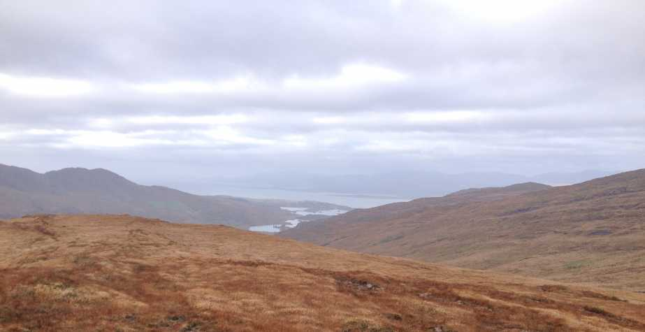 MountainViews.ie Picture about mountain Derrysallagh in area Caha Mountains, Ireland