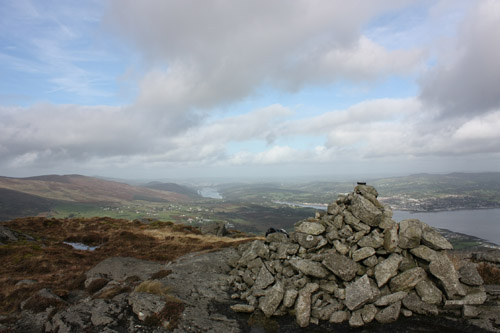 MountainViews.ie Picture about mountain The Foxes Rock  in area Cooley Mountains, Ireland