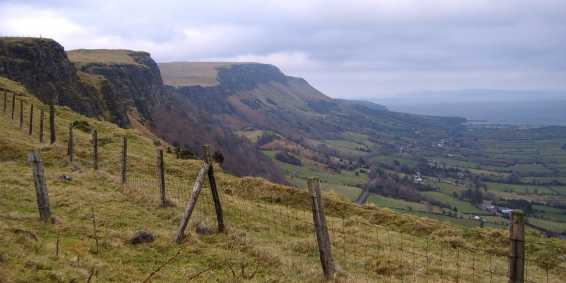 MountainViews.ie Picture about mountain Crockalough in area Antrim Hills, Ireland