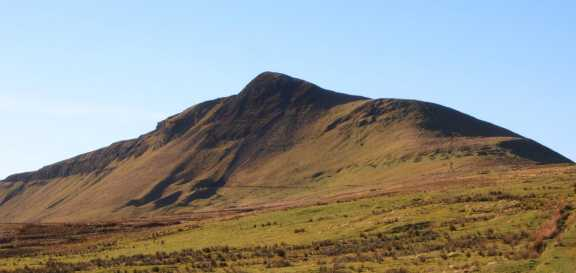 MountainViews.ie Picture about mountain Tievebulliagh in area Antrim Hills, Ireland